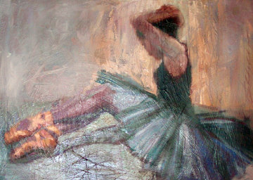 Allegra 2001 38x48  Original Painting - Henry Asencio
