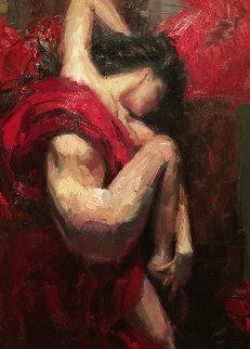 Passionate Dreams 35x50 Original Painting - Henry Asencio