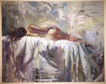 Dreamscape 42x46 Original Painting - Henry Asencio