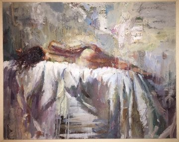 Dreamscape 42x46 Huge Original Painting - Henry Asencio