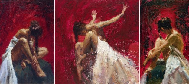 Sentiments Triptych-Conviction, Desire, Liberation Suite of 3 2005 Limited Edition Print by Henry Asencio