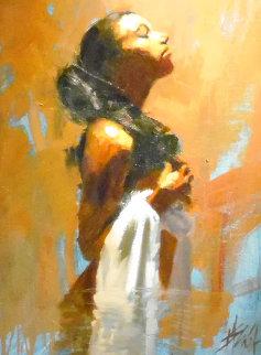 Petition 30x24 Original Painting - Henry Asencio