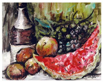 Fruit Still Life Suite of 3 LIthographs Limited Edition Print by Rita Asfour