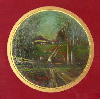 Village Road 1983 24x24 Original Painting by  Ashot