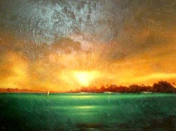 Sunlit Shores 46x58 Original Painting - Ashton Howard