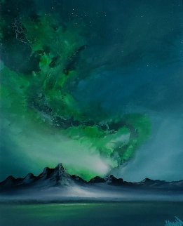 Northern Light 2019 38x28 Original Painting - Ashton Howard