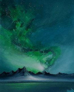 Northern Light 2019 38x28 Huge Original Painting - Ashton Howard