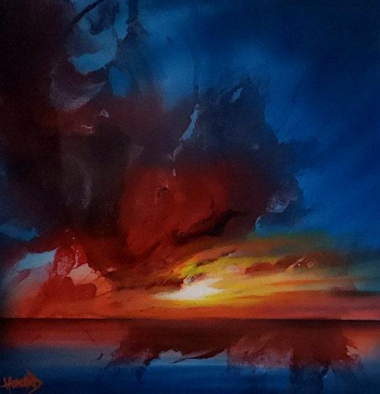 Sunburst 2019 20x20 Original Painting by Ashton Howard