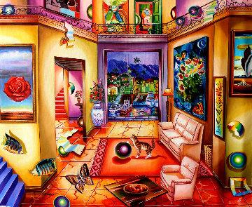 Art Dealer 2007 24x30 Original Painting - Alexander Astahov