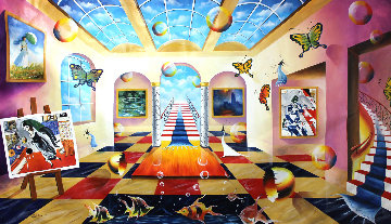 Stairway to the Memory 2017 48x88 Original Painting - Alexander Astahov