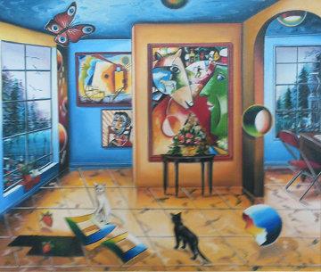 Untitled Painting 29x33 Original Painting - Alexander Astahov