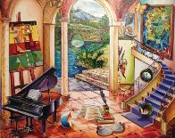 Untitled Staircase 2005 31x35 Original Painting by Alexander Astahov - 0