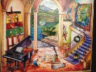Untitled Staircase 2005 31x35 Original Painting by Alexander Astahov - 1