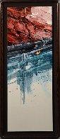 Agua Caminando Watercolor 43x18 Watercolor by Michael Atkinson - 1