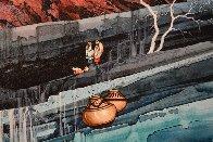 Agua Caminando Watercolor 43x18 Watercolor by Michael Atkinson - 3