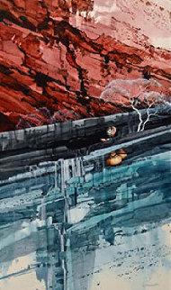 Agua Caminando Watercolor 43x18 Watercolor - Michael Atkinson