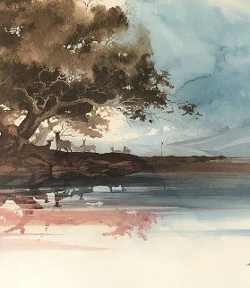 Morning Mist   Triptych 1988  Limited Edition Print - Michael Atkinson