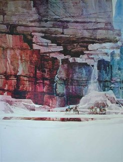 Waterfall 1 And 2, Diptych 1988 59x48 Super Huge Limited Edition Print - Michael Atkinson