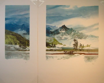 Long Way Home Diptych 1988 48x54 Super Huge  Limited Edition Print - Michael Atkinson