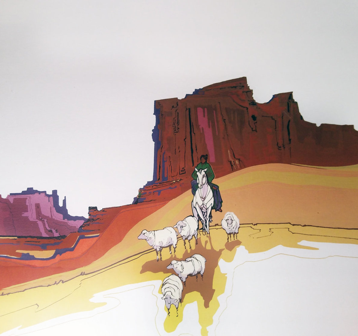 Painted Rock AP 1984 Limited Edition Print by Michael Atkinson