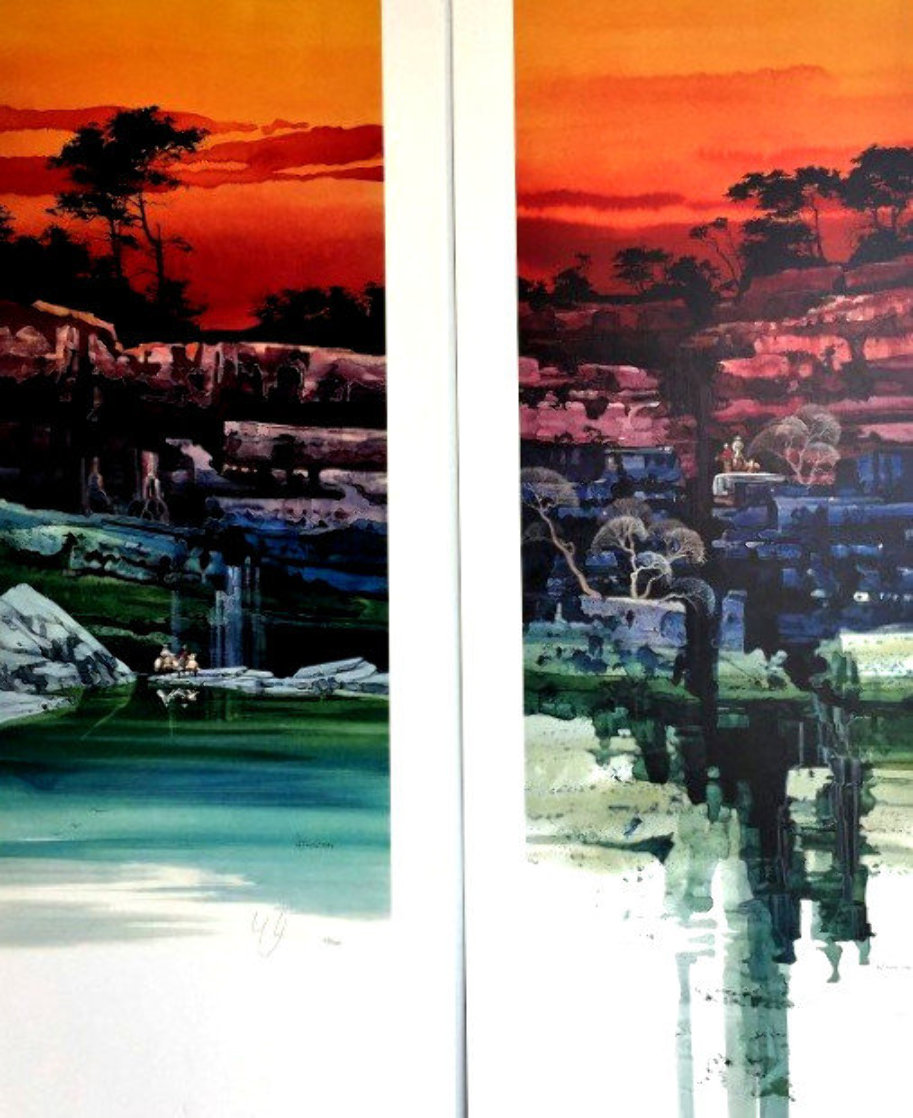 Evening Vista I & II 2000 36x19 Limited Edition Print by Michael Atkinson