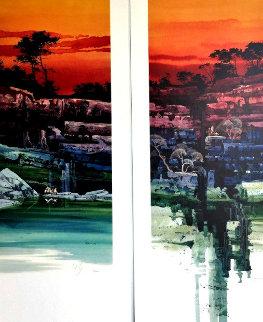 Evening Vista I & II 2000 36x19 Limited Edition Print by Michael Atkinson