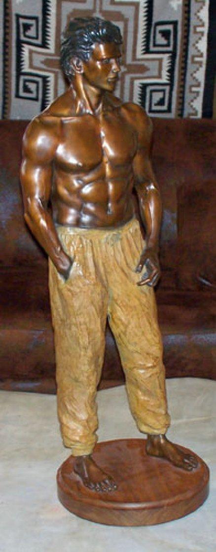Doug Bronze Sculpture 36 in Sculpture by Michael Atkinson