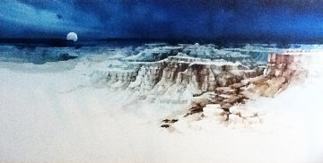 Untitled Southwest Landscape Watercolor 48x96 Super Huge Watercolor - Michael Atkinson
