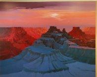 Corridors of Time 1993 Mural 72x108 Huge Original Painting by Michael Atkinson - 1