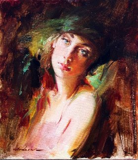 Knowing 2008 16x14 Original Painting - Andrew Atroshenko