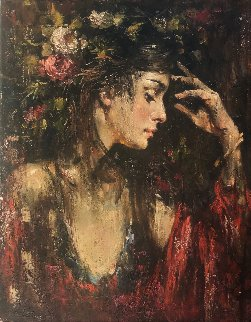 Deep in Thought 20x16 Original Painting - Andrew Atroshenko