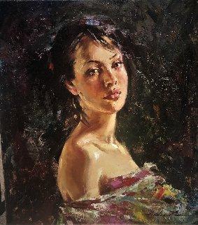 Antoinette 2008 20x18 Original Painting - Andrew Atroshenko