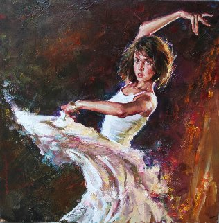 Dynamic Connection 2008 30x30 Original Painting - Andrew Atroshenko