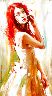 Redhead 2012 35x19 Original Painting - Andrew Atroshenko