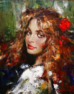Cherish oil 2000 26x22 in Original Painting - Andrew Atroshenko