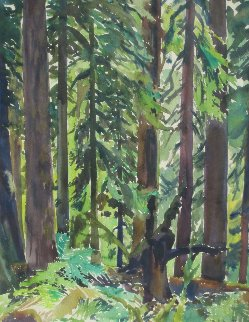 Majesty of the Forest Watercolor 1960 25x31 Watercolor - Phillip Austin