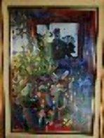 Jour Fe Fete 1977 72x52 Super Huge Original Painting by Daniel Authouart - 1