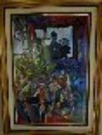 Jour Fe Fete 1977 72x52 Super Huge Original Painting by Daniel Authouart - 3