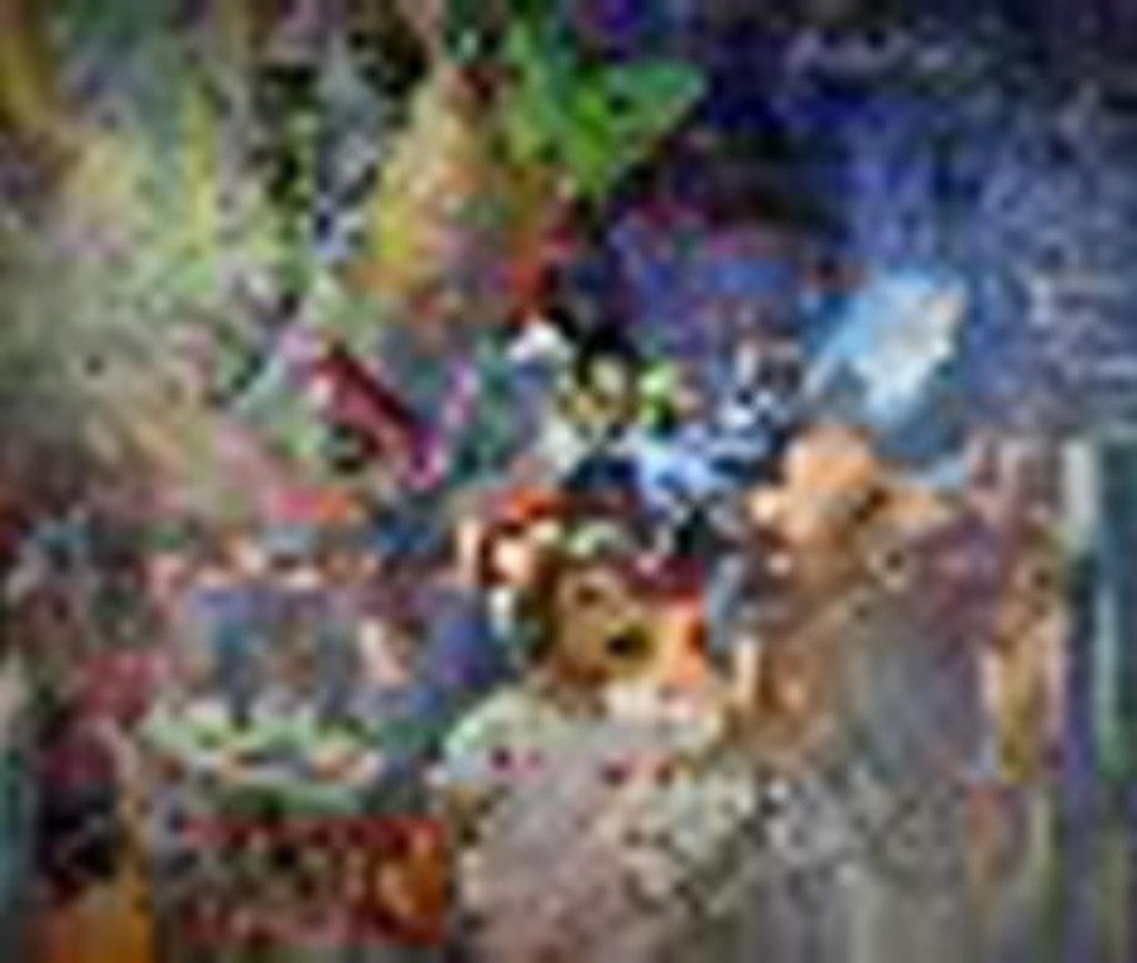 Jour Fe Fete 1977 72x52 Super Huge Original Painting by Daniel Authouart