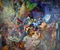 Jour Fe Fete 1977 72x52 Super Huge Original Painting by Daniel Authouart - 0
