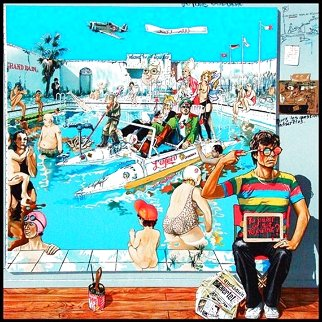 To Paint Or Not to Paint? 1988  Huge Limited Edition Print - Daniel Authouart