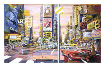 Time Square, New York 1995 Limited Edition Print - Daniel Authouart