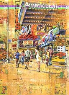 42nd Street Triptych 63x45 Super Huge Limited Edition Print - Daniel Authouart