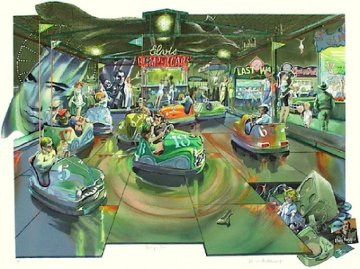 Bumper Cars Limited Edition Print - Daniel Authouart