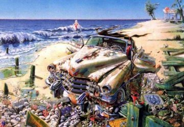 Une Cadillac Pour Marilyn Limited Edition Print - Daniel Authouart