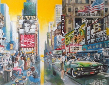 Times Square, New York 1991 Limited Edition Print by Daniel Authouart