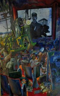 Jour De Fete 1977 72x52 Super Super Huge Original Painting - Daniel Authouart