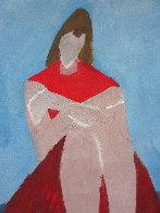 Portrait of a Crouched Woman 10x7 Works on Paper (not prints) by Milton Avery - 1