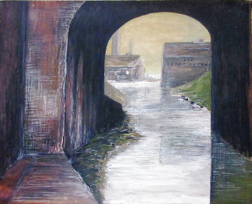 Misty River Watercolor 16x20 Original Painting - Milton Avery