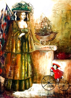 Grases 47x36 Original Painting - Laura Avetisyan